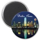 Dallas-Skyline Runder Magnet 5,1 Cm