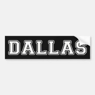 Dallas Texas Autoaufkleber