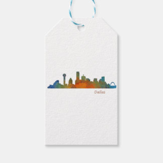 Dallas Texas City Watercolor Skyline Hq v1 Geschenkanhänger