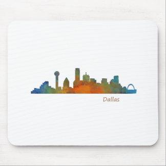 Dallas Texas City Watercolor Skyline Hq v1 Mousepad