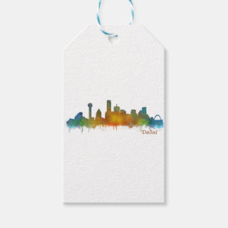 Dallas Texas City Watercolor Skyline Hq v2 Geschenkanhänger