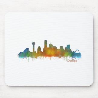 Dallas Texas City Watercolor Skyline Hq v2 Mousepad