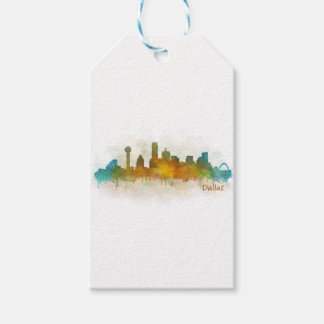 Dallas Texas City Watercolor Skyline Hq v3 Geschenkanhänger
