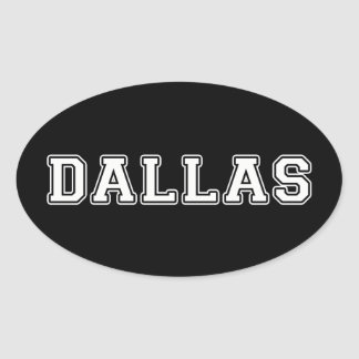 Dallas Texas Ovaler Aufkleber