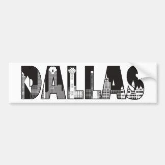 Dallas-Text mit dem Gebäude-Kontur-Zeichnen Autoaufkleber