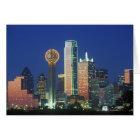 'Dallas, TX Skyline nachts mit Wiedersehen Tower Karte
