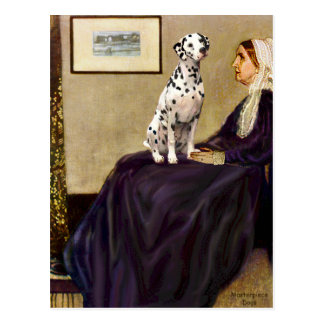 Dalmatiner 1 - Pfeifer-Mutter Postkarte