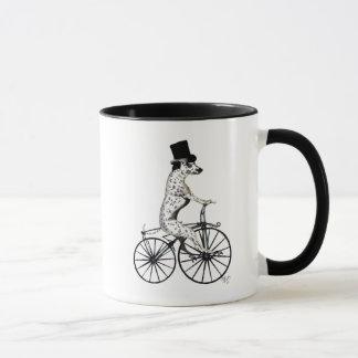 Dalmatiner auf Fahrrad 2 Tasse