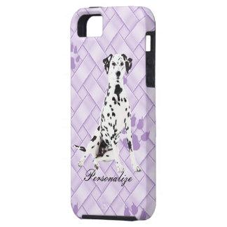 Dalmatiner auf Lavendel-Webart w/pawprints iPhone 5 Etui