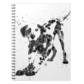Dalmatiner, dalmatinischer Hund, Aquarell Spiral Notizblock