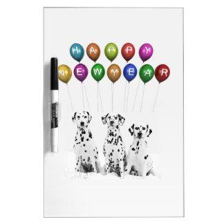 Dalmatiner, die guten Rutsch ins Neue Jahr 2016 Memoboard