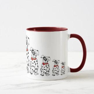 Dalmatiner Mama und Kinder Tasse