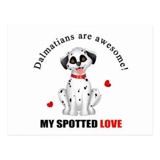 Dalmatiner sind fantastisch postkarte