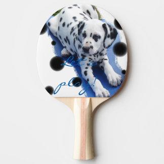"""Dalmatiner Welpe Tischtenniskelle """"Let´s play!"""" Tischtennis Schläger"""