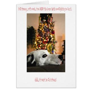 Dalmatinische Hundeweihnachtskarte Karte