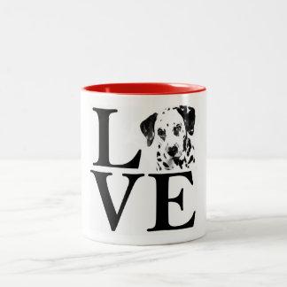 Dalmatinische Liebe-Tasse Zweifarbige Tasse