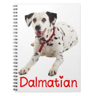 Dalmatinische Welpen-Hunderote Liebe-gepunkteter Notizblock