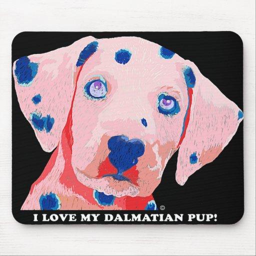 Dalmatinische Welpen-Liebe Mauspads