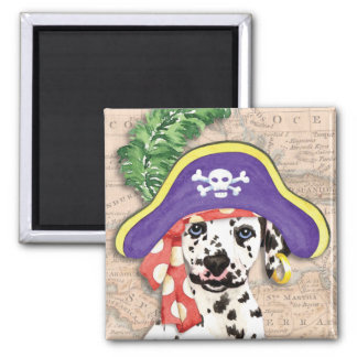 Dalmatinischer Pirat Quadratischer Magnet