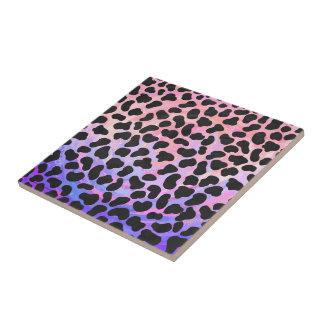 Dalmatinischer schwarzer und rosa Druck Keramikfliese