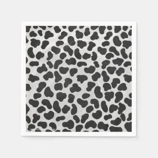 Dalmatinischer Schwarzweiss-Druck Papierservietten