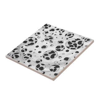 Dalmatinischer Tupfen Schwarzweiss Keramikfliese