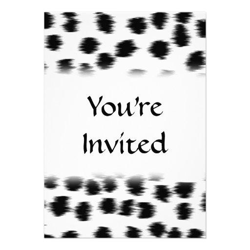 Dalmatinisches Druck-Schwarzweiss-Muster Individuelle Einladungen