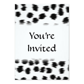 Dalmatinisches Druck-Schwarzweiss-Muster 12,7 X 17,8 Cm Einladungskarte