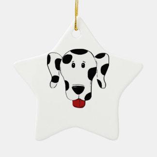 Dalmatinisches Hundezeichnen Keramik Stern-Ornament