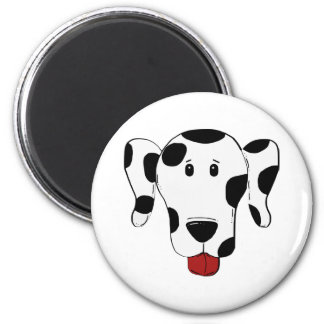 Dalmatinisches Hundezeichnen Runder Magnet 5,7 Cm