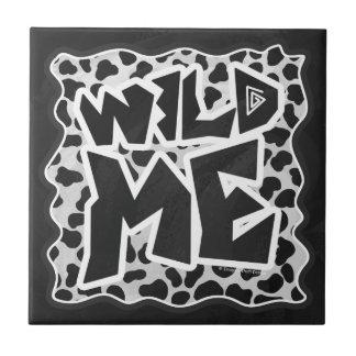 Dalmatinisches Schwarzweiss mit wildem ich Fliese