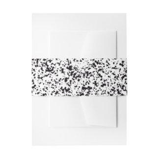 Dalmatinisches Stellen-Entwurfs-Bauch-Band Einladungsbanderole