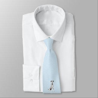 Dalmation auf blauen w/White Diamanten Krawatte