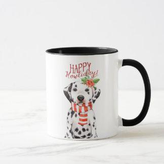 dalmation HundeweihnachtsTasse glückliches Tasse