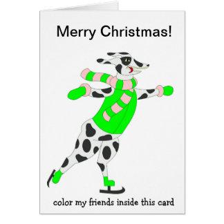 Dalmation Skater Grußkarten