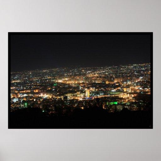 Damaskus nachts - Syrien Plakat