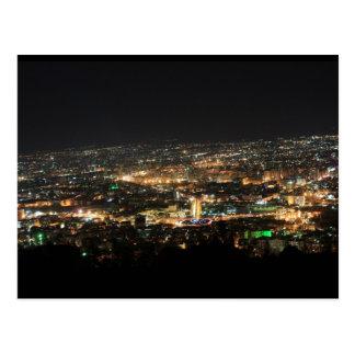 Damaskus nachts - Syrien Postkarte