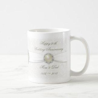 Damast-30. Hochzeits-Jahrestags-Tasse Tasse
