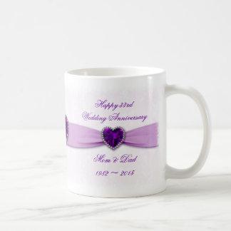 Damast-33. Hochzeits-Jahrestags-Tasse Tasse