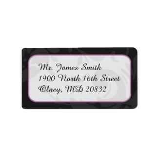 Damast-Adressen-Etiketten Adressaufkleber