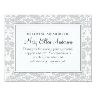 Damast-Begräbnis- Anmerkungs-Karten-flache Karte