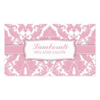 Damast-Blumenmuster-eleganter Modedesigner Visitenkarten