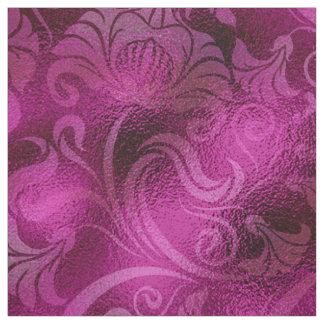 Damast-Blumenschimmer-magentarote Rose ID461 Stoff
