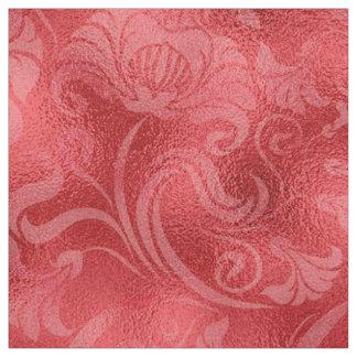 Damast-Blumenschimmer-Rose rotes ID461 Stoff