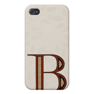 Damast-Buchstabe B - Rot iPhone 4/4S Cover