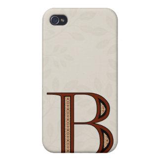 Damast-Buchstabe B - Rot iPhone 4/4S Hüllen