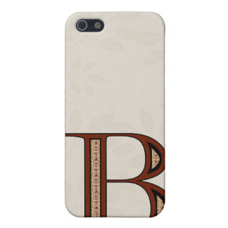 Damast-Buchstabe B - Rot iPhone 5 Cover