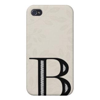 Damast-Buchstabe B - Schwarzes iPhone 4 Case