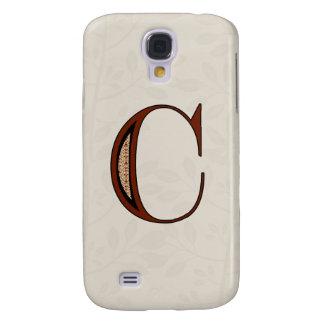 Damast-Buchstabe C - Rot Galaxy S4 Hülle