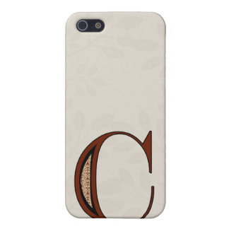Damast-Buchstabe C - Rot iPhone 5 Case